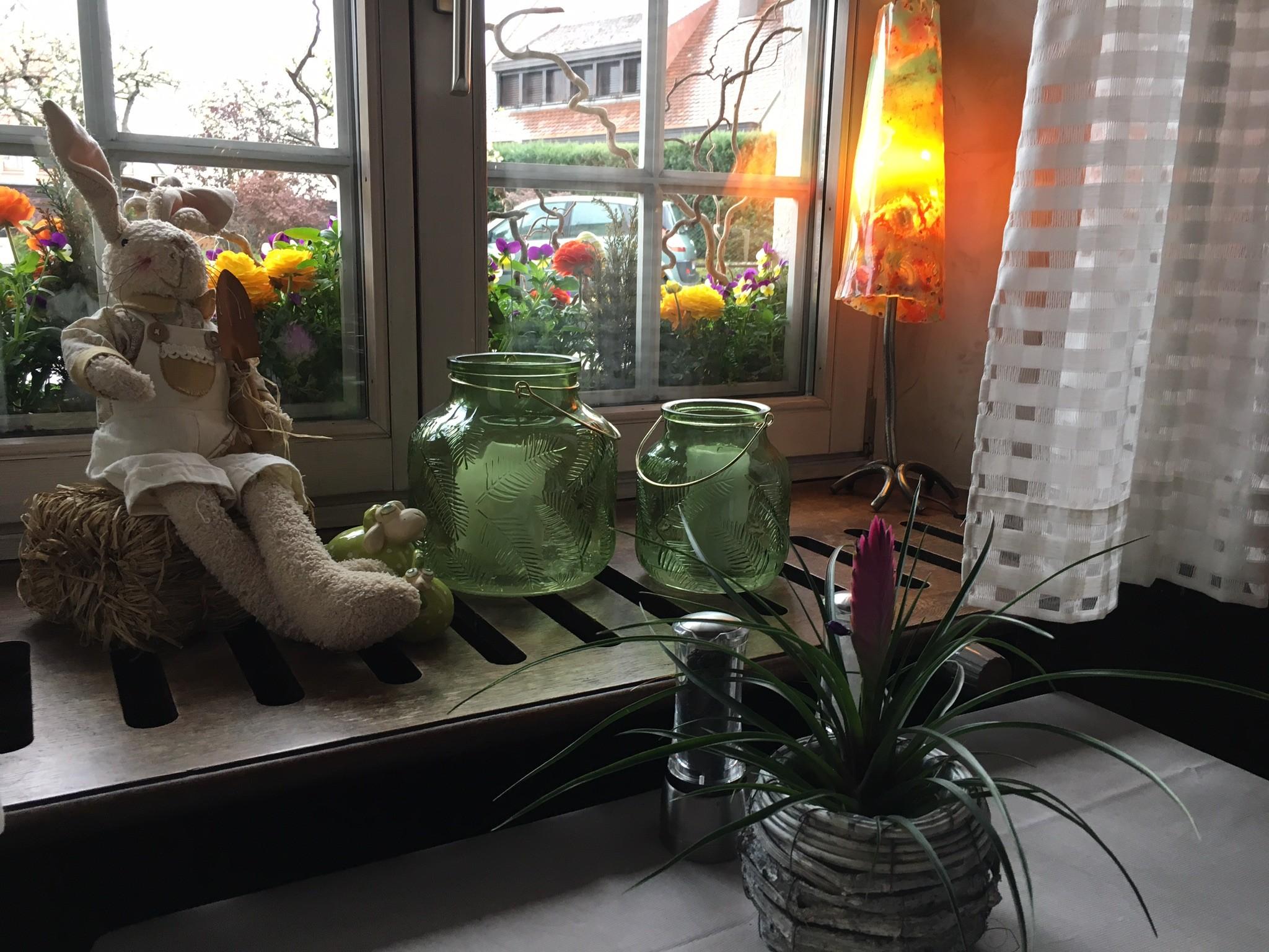 Fenêtre du restaurant au relais des ménétriers